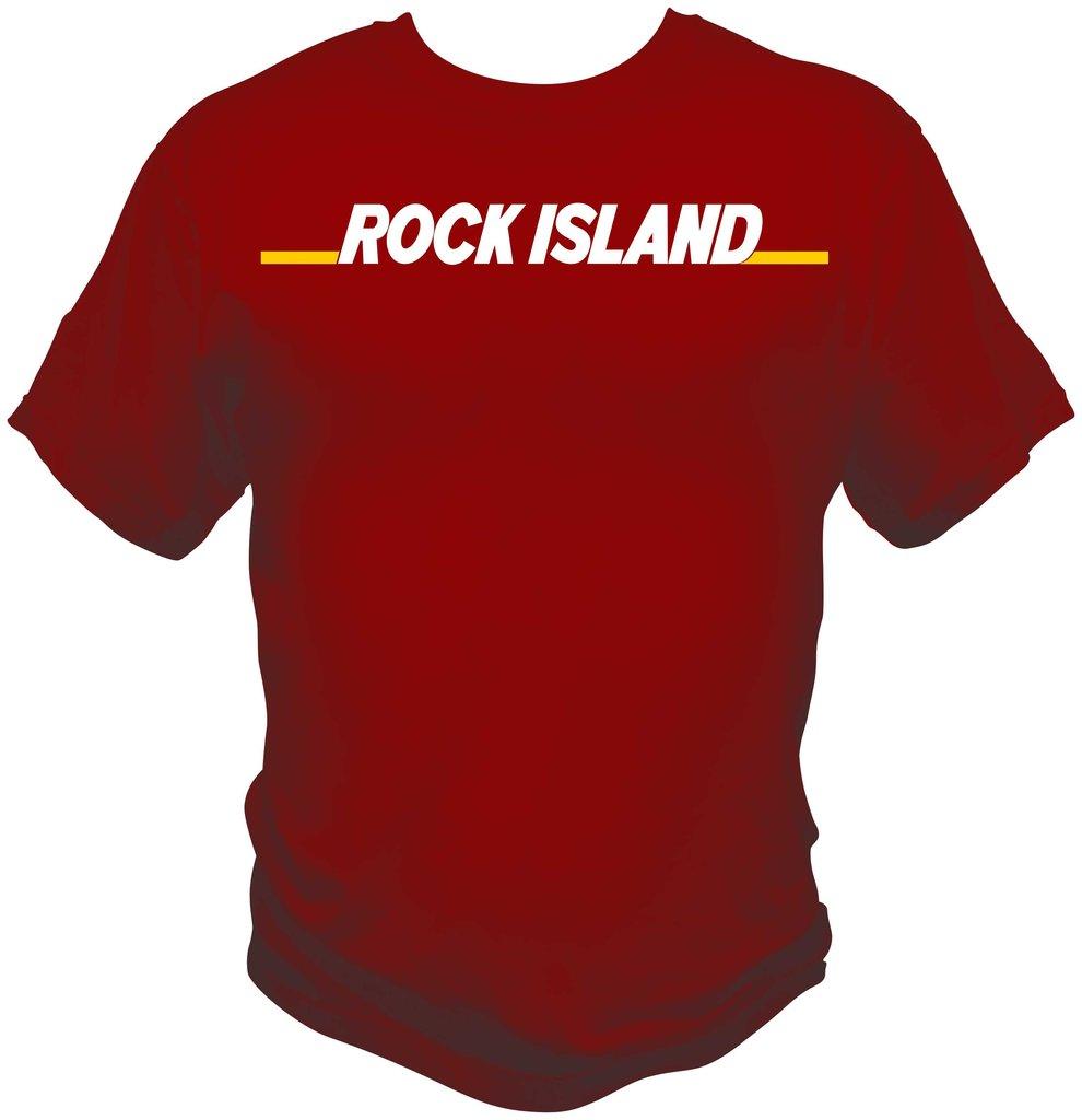 Rock Island Font Logo Shirt.