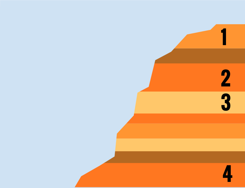 Rock layers clipart.