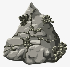 Rocks On A Mountain Clipart, HD Png Download , Transparent.