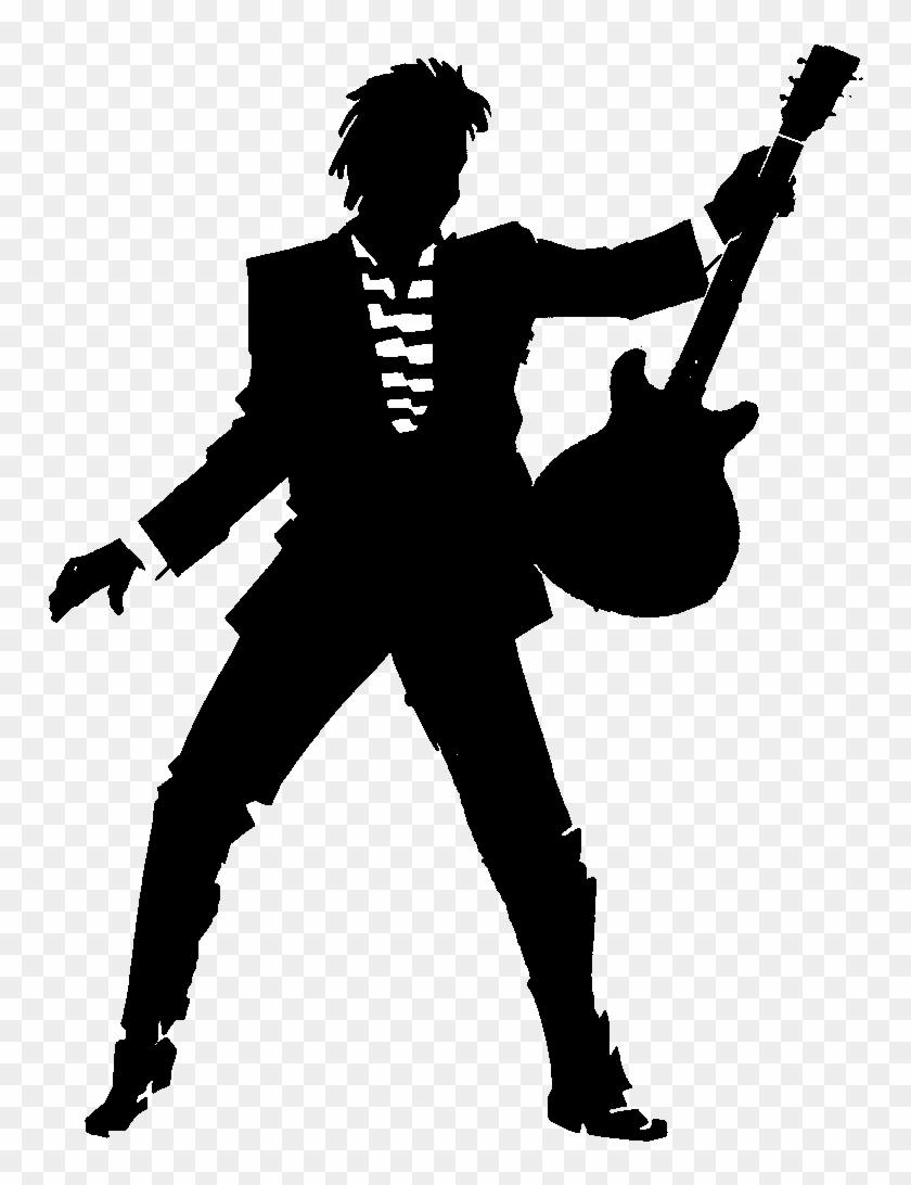 Pee Kay Music Rock Guitarist Silhouette Png.