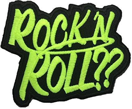 Amazon.com: Papapatch Rock N Roll Rock Music Band Logo.