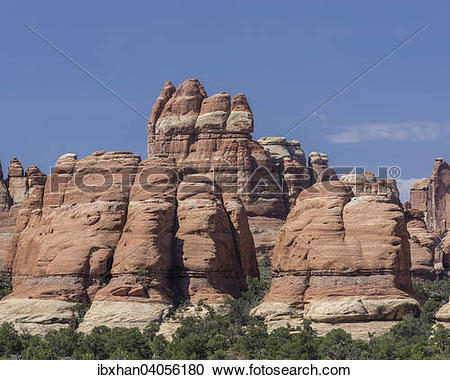 "Stock Photography of ""Rock formations, Needles, Monticello, Utah."