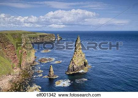 Stock Photo of United Kingdom, Scotland, Coast of Duncansby Head.