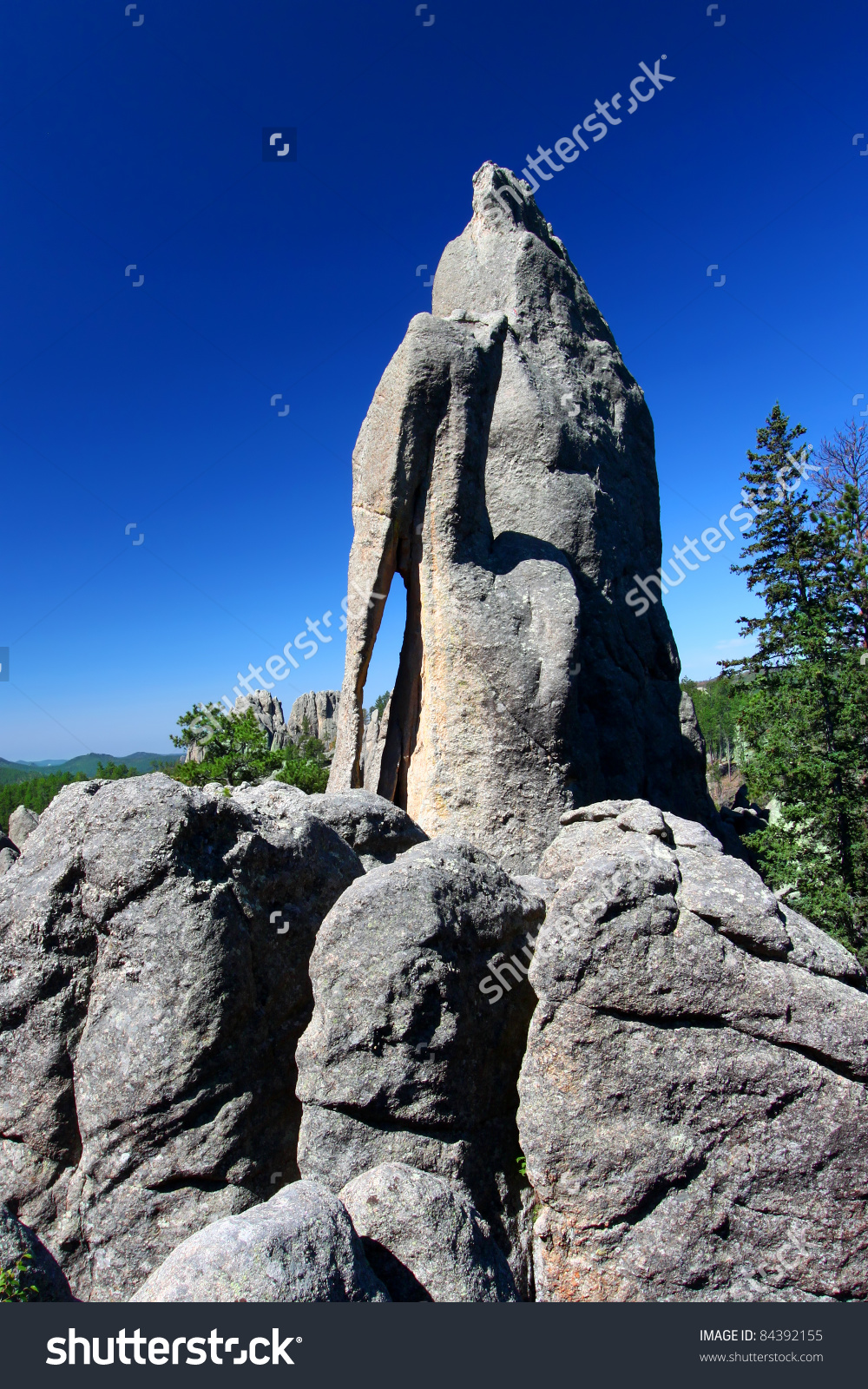 Needles Eye Rock Formation In Custer State Park Of South Dakota.