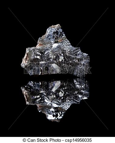 Stock Photos of Rough Galenite mineral.