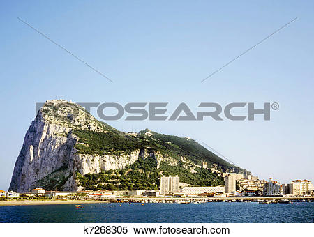 Stock Image of The rock of Gibraltar k7268305.