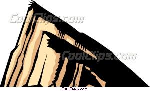 Rock of Gibraltar Vector Clip art.