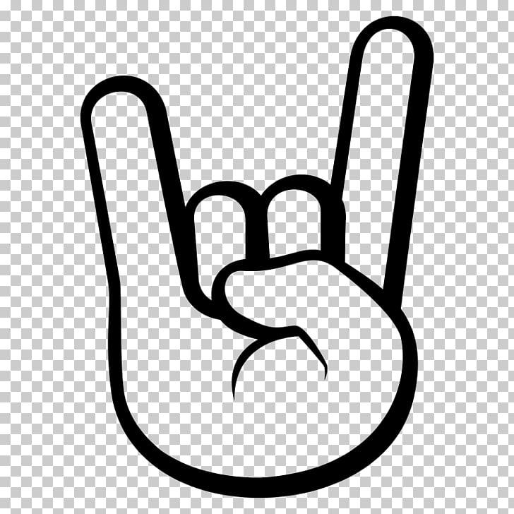 Sign of the horns Emoji rock Music Symbol, Emoji PNG clipart.