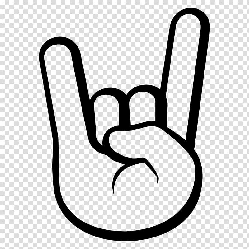 Emoji Sign of the horns Emoticon Symbol, rock n roll.