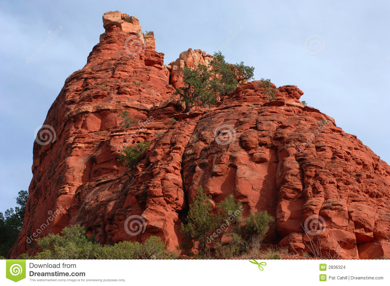 Sedona Rock Outcropping Stock Images.