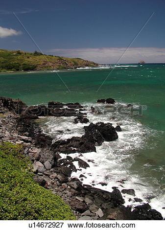 Picture of Molokai, HI, Hawaii, East Molokai, Rock Point Overlook.