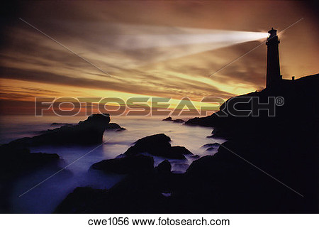 Rocky Point Lighthouse Clipart.