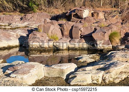 Stock Photography of Waterhole and rock pool. Flinders Ranges.