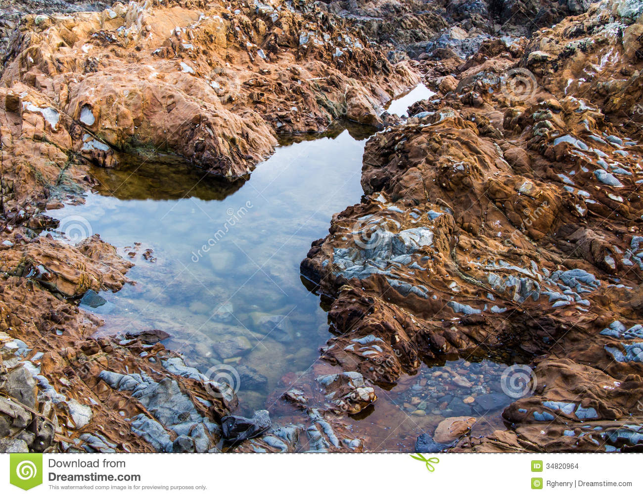 Rock Pool Stock Images.