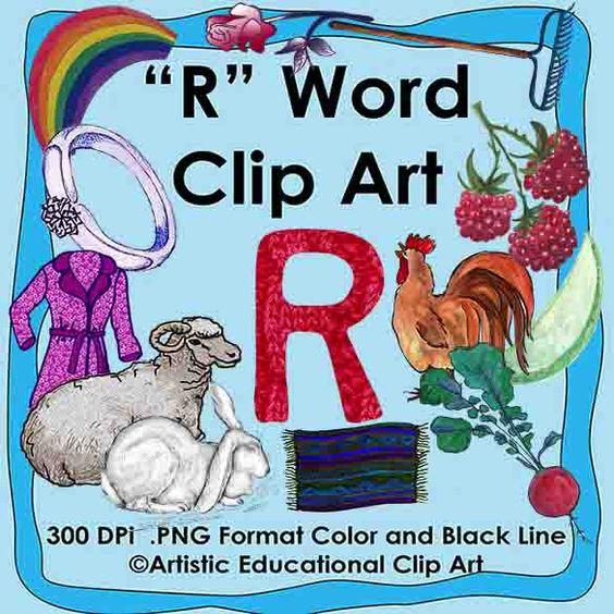 Letter R Clip Art.