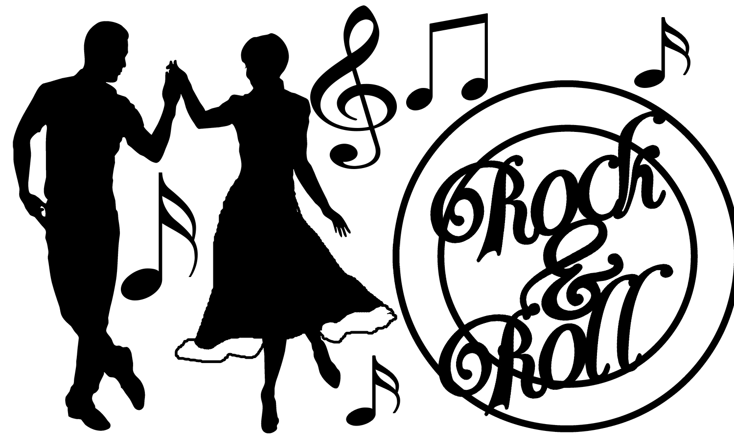 Rock and roll clipart black and white 7 » Clipart Station.