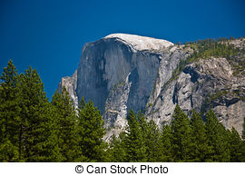 Pictures of Dome of granite in Yosemite.