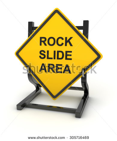 Rock Slide Area Stock Photos, Royalty.