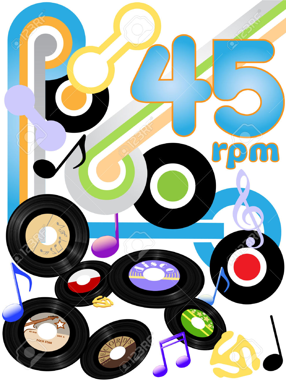 Classic Rock Solid Gold Oldies On 45 RPM Rock And Roll Music.