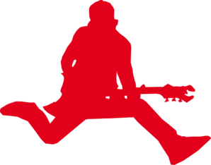 Rock Star With Guitar Clip Art at Clker.com.