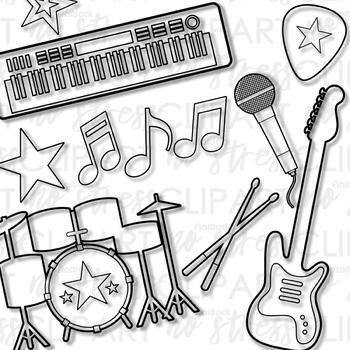 Rock Star (Blue Set) Clip Art (Digital Use Ok!).