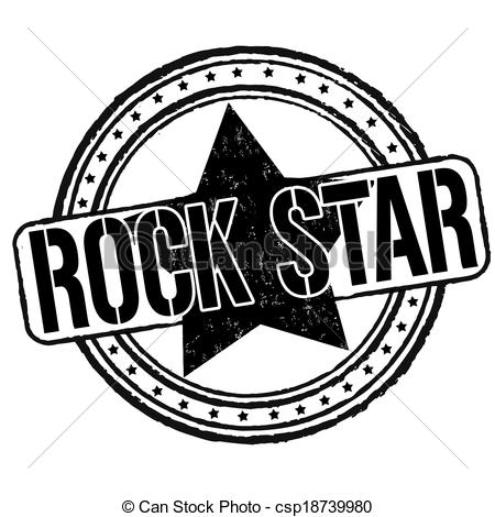 Rock Star Clipart Black And White.