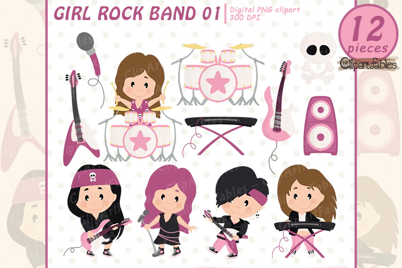 GIRL Rock Star clipart, Music clip art.