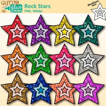 Rock Stars Clip Art: 80\'s Retro Music Graphics {Glitter Meets Glue}.