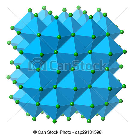 Stock Illustration of Sodium chloride (rock salt, halite, table.