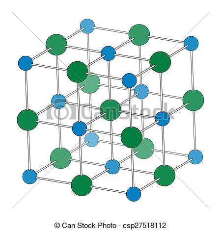 Clipart of Sodium chloride (rock salt, halite, table salt.