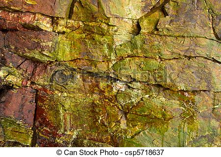 Picture of Colorful rock wall surface inside a cave. csp5718637.