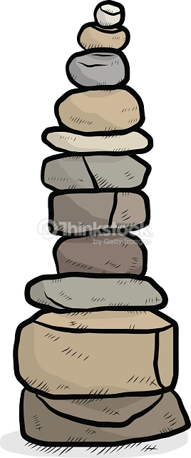 Arranged Stones Vector Art.