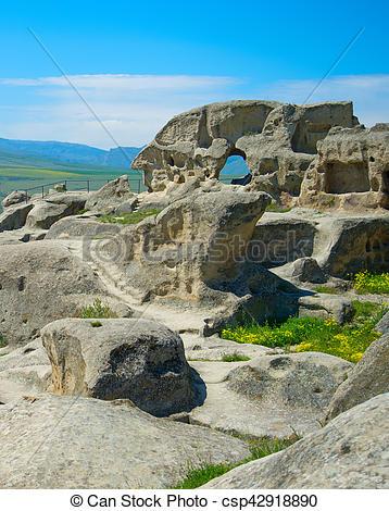 Stock Photographs of Ancient rock town, Georgia.