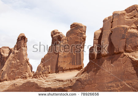 Arches National Park Desert Rock Vista Moab Utah Usa Stock Photo.
