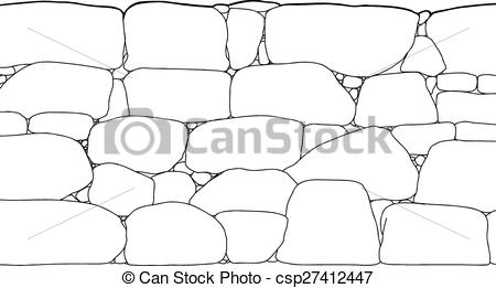 EPS Vector of Rock Wall Outline.