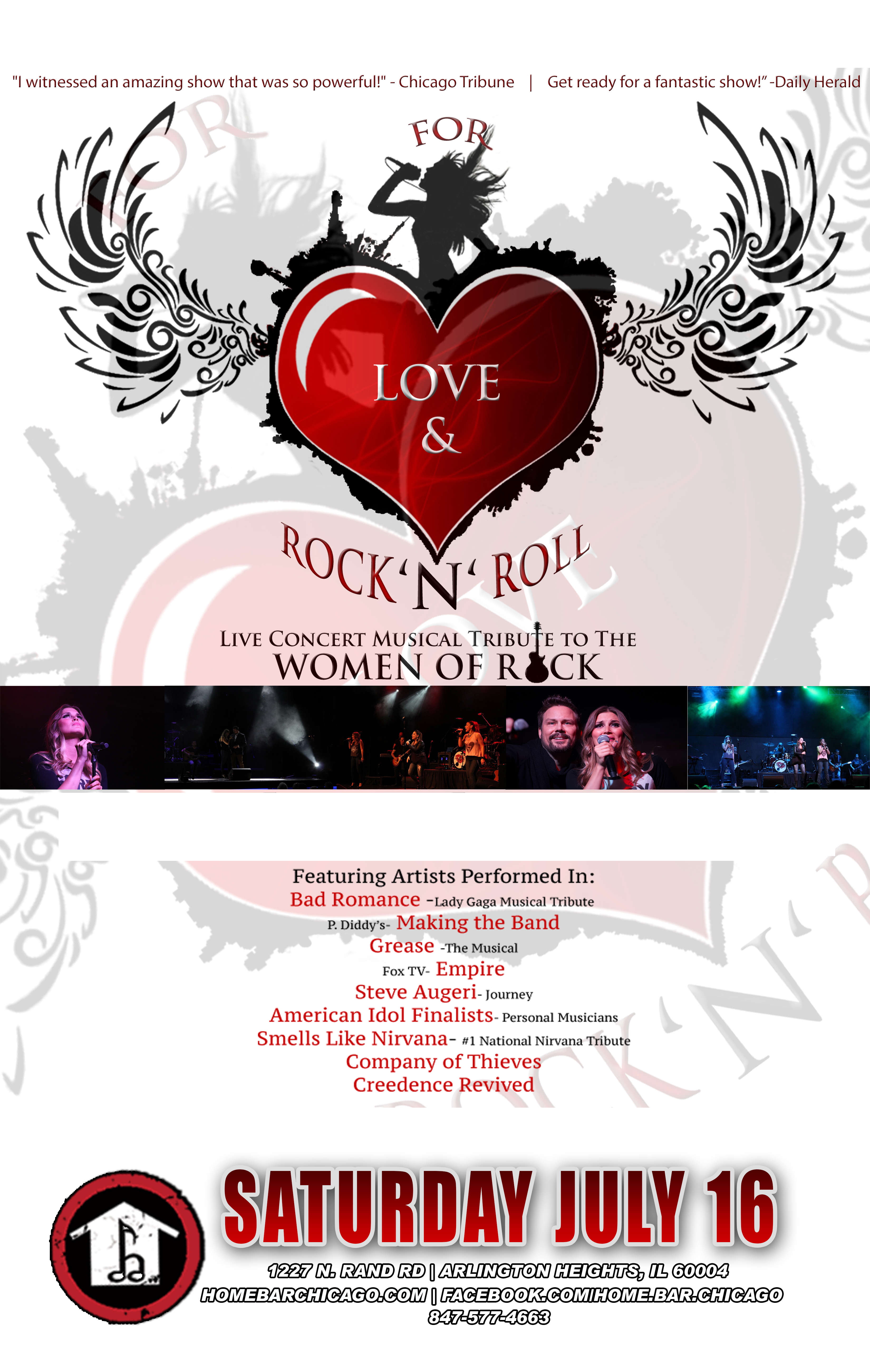 """For Love & Rock'N'Roll"""" A musical Tribute to the Women of Rock."""