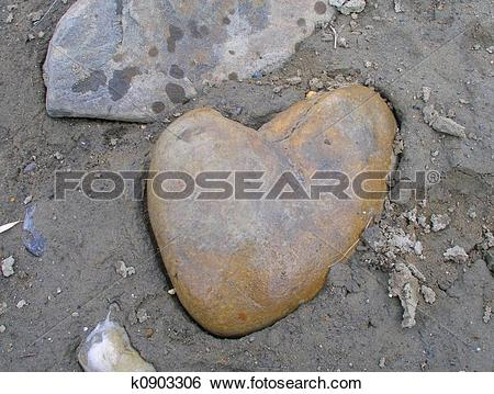 Stock Images of Heart Rock 11 k0903306.
