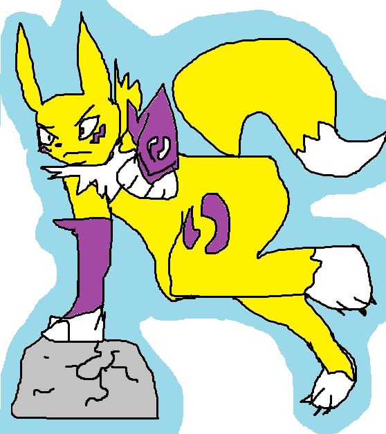 Renamon Freaking Owns A Rock!!!!11!!! by dragonluvr2002 on DeviantArt.