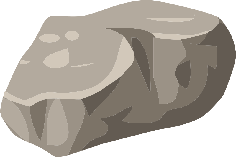 Curling rock clipart.