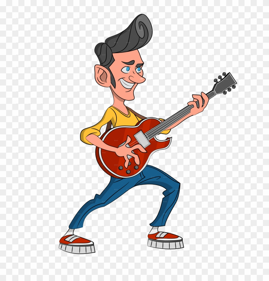 Banner Royalty Free Library Guitar Clipart Rockabilly.