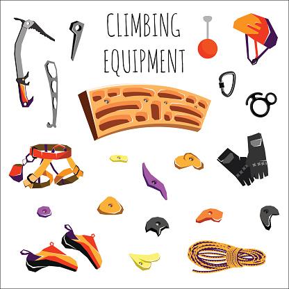 Rock-climbing equipment clipart #18