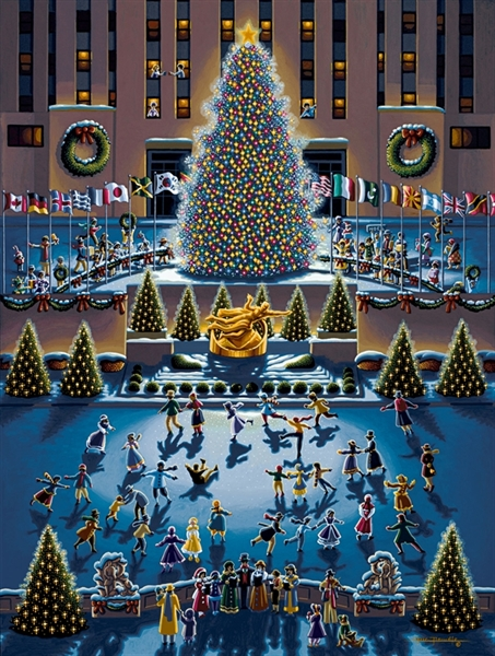 Winter Fun (Rockefeller Center) Jigsaw Puzzle.