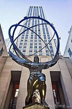Atlas In Rockefeller Center Editorial Stock Photo.