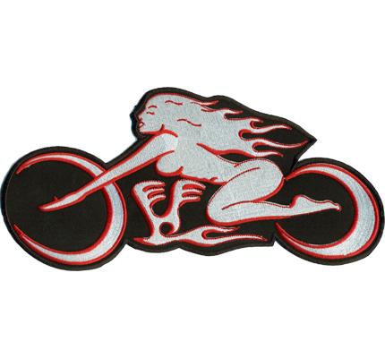 GIRLS großer Scout Lady Motorradfahrerin Biker Rockerbraut.