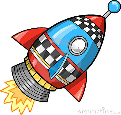 Cute rocket clipart.
