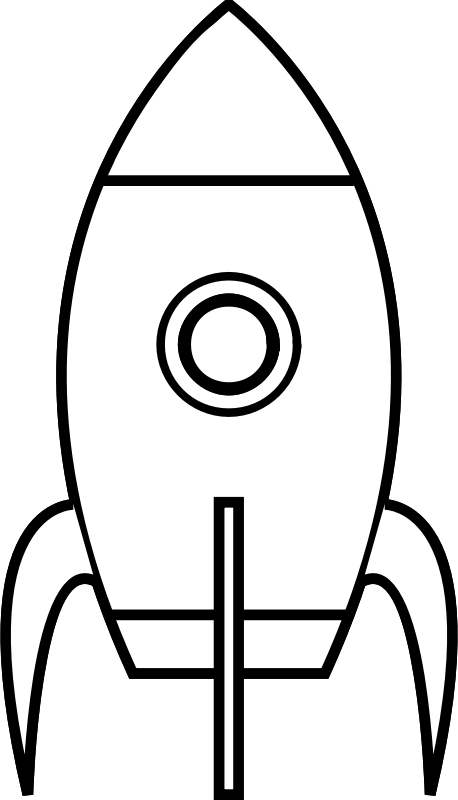 Rocket Clipart Black And White.