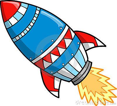 Free Rocket Clipart.