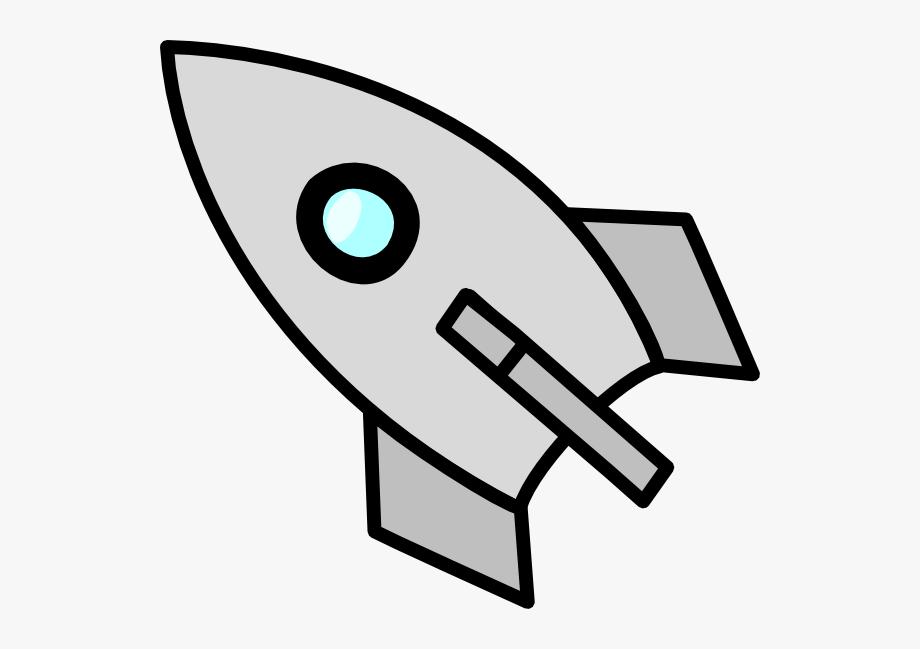 Rocket Clipart Grey.