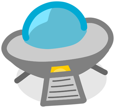 Illustration of a ufo with a transparent background..