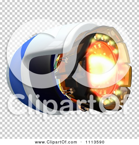 Clipart 3d Rocket Engine With Flames.